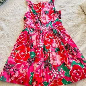 Lilly Pulitzer pink floral dress!